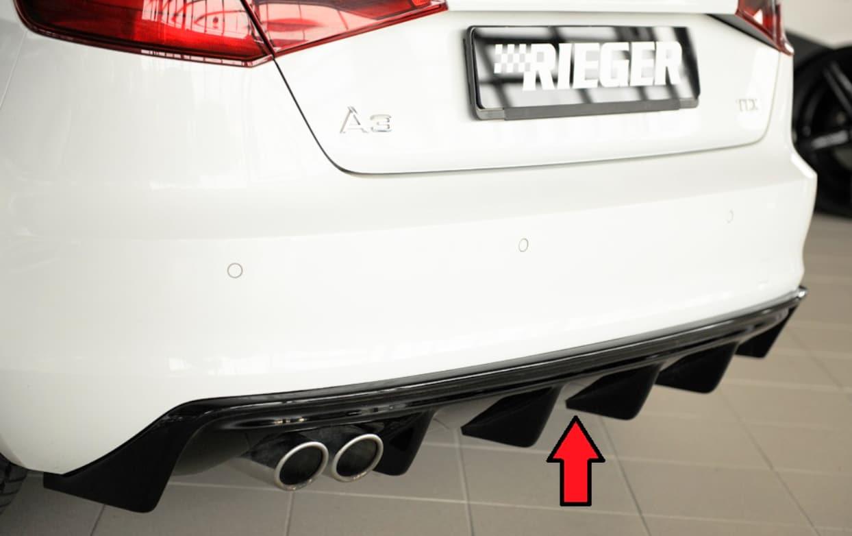 Blanksvart Diffuser Audi A3