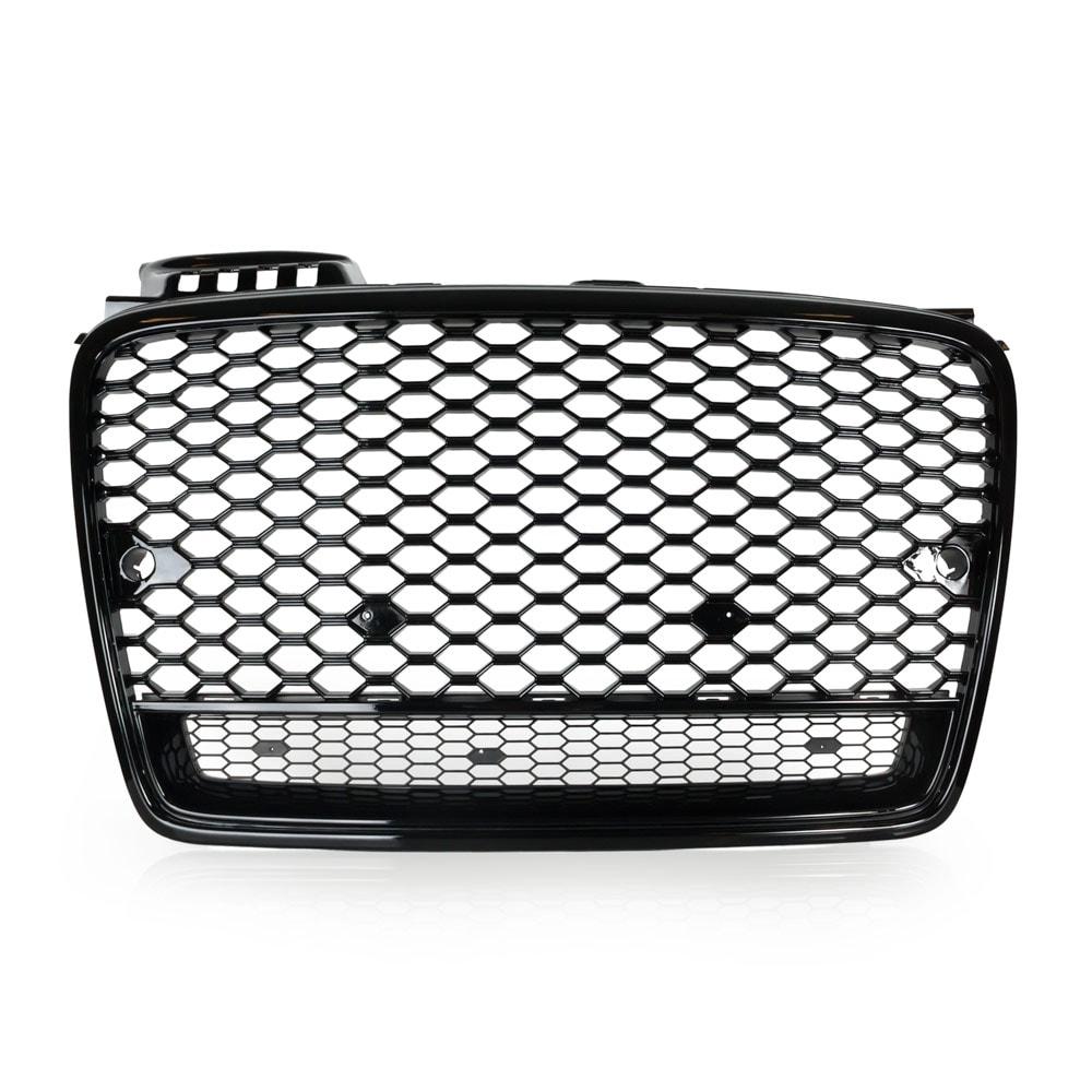 skinnende sort Honeycomb Grill Audi A4 B7