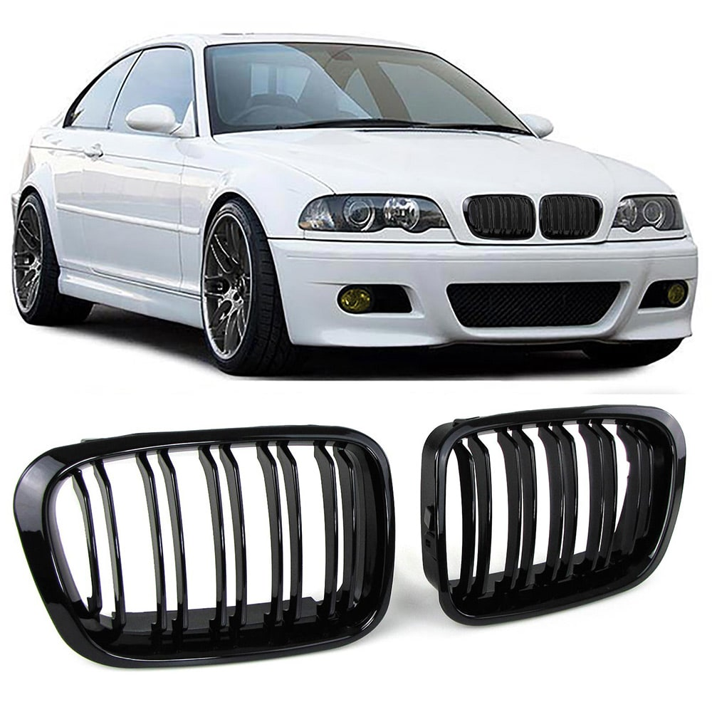 Blanksvarte nyrer (grill) BMW E46