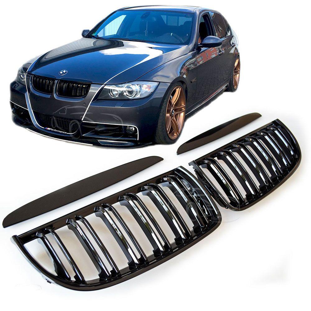 BMW E90 nyrer Blanksvart