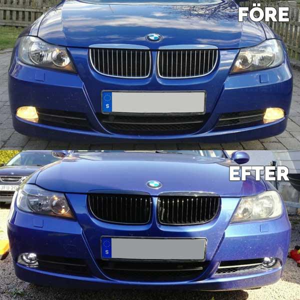 BMW E90 Grill skinnende sort