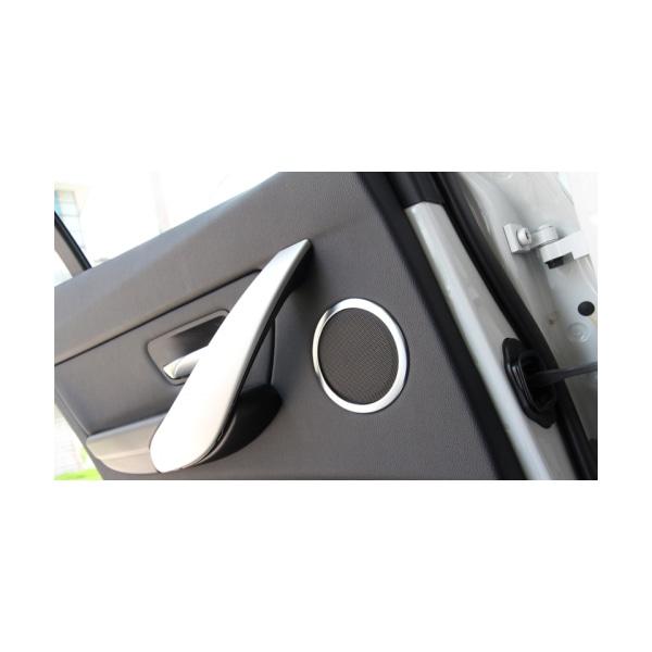 Kromringer for dørhögtalare til BMW F30/F31/F34