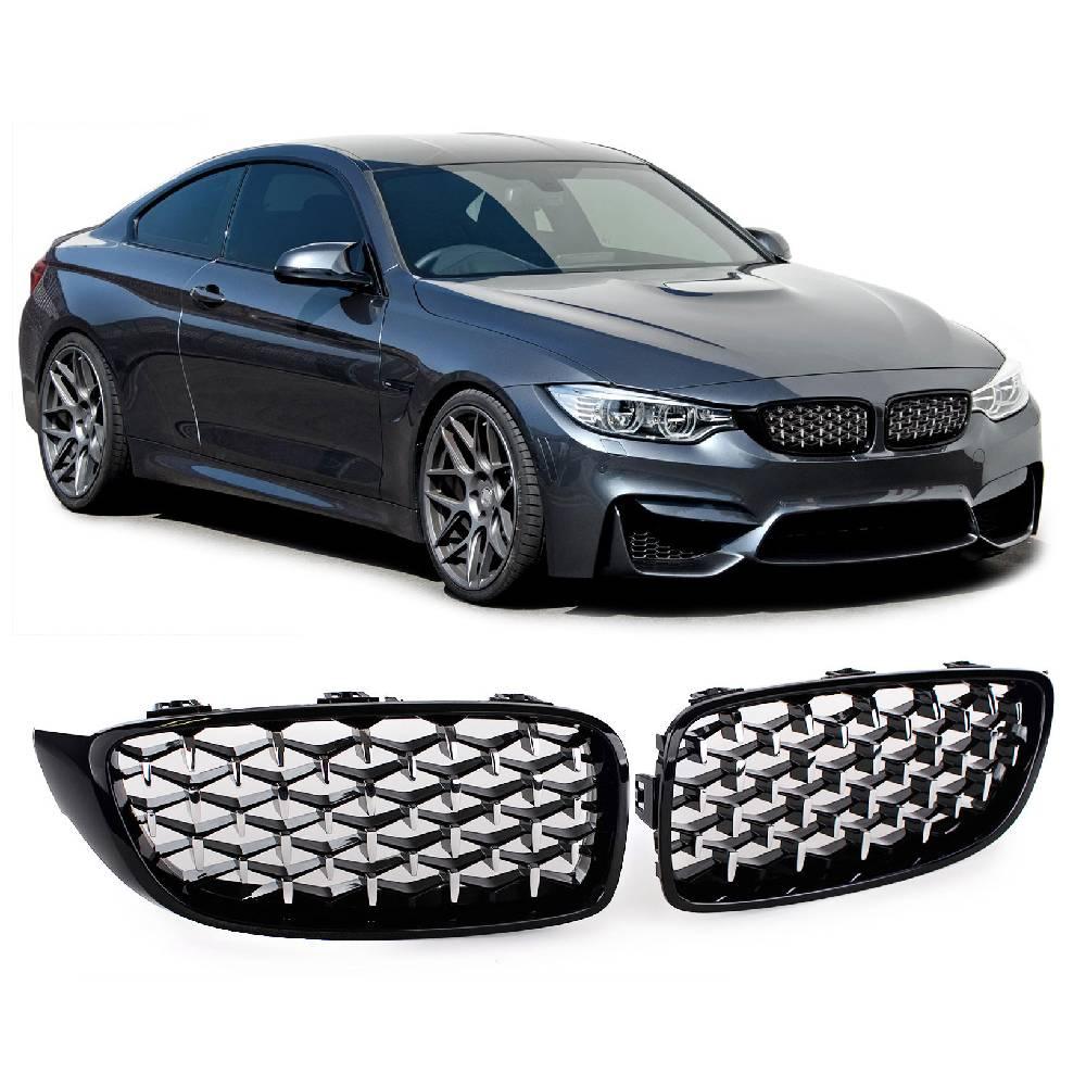 Skinnende svarte nyrer BMW 4.serie