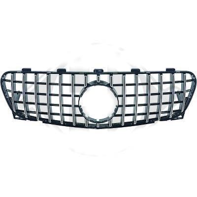 Black/Chrome radiator grille GT-Optics