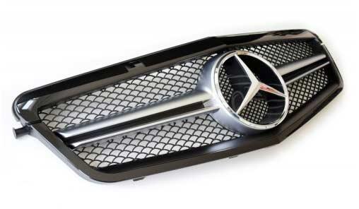 skinnende sort grill Mercedes W212