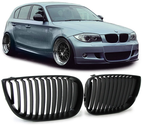 Helsvart grill BMW 1-serien
