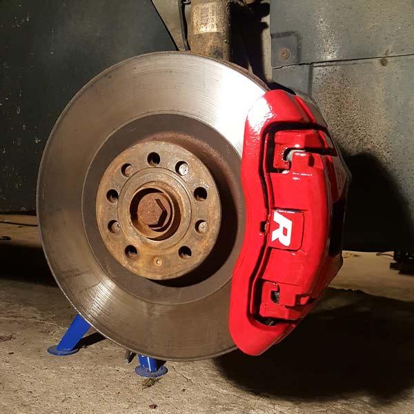 Bremsecaliperfarge Rød 2-komponents