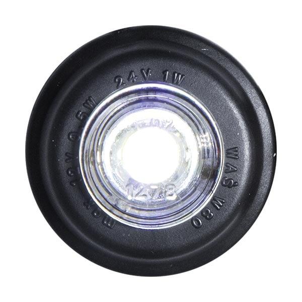 LED posisjonslys Hvit Rund