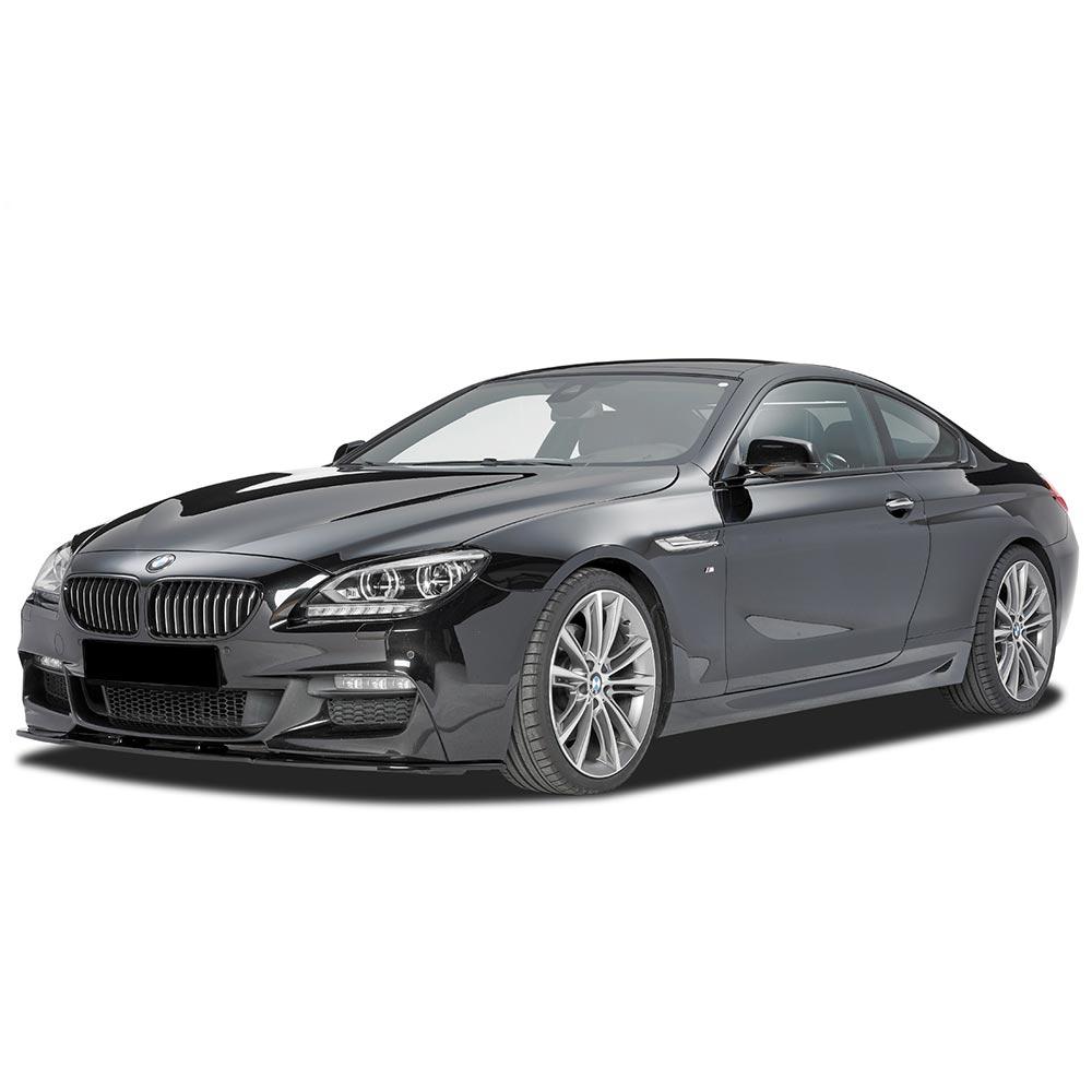 Blanksvart Cupspoiler Fram BMW 6-serie