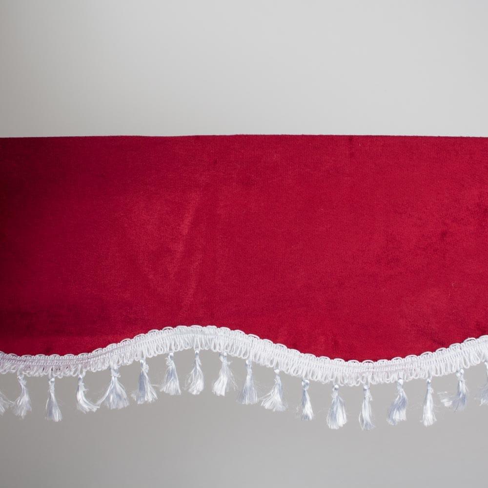 Gardin for vindruta rød/hvit