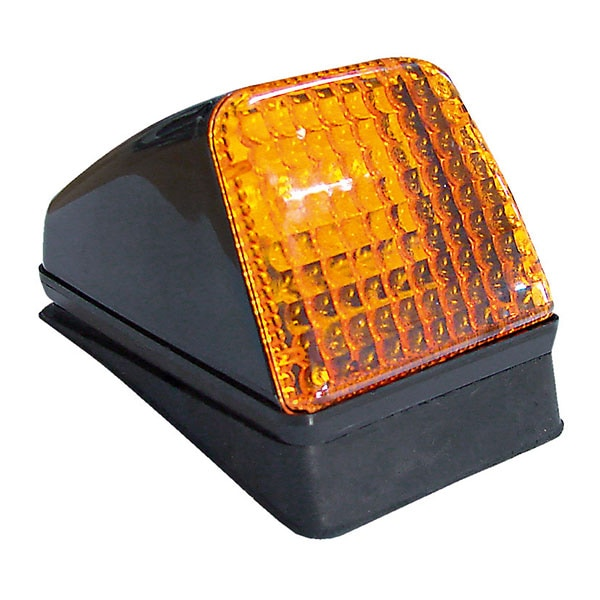 Taklampe integrert LED orange glass