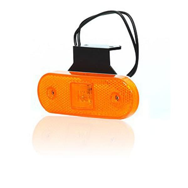 LED Sidemarkeringslys orange 12-24V
