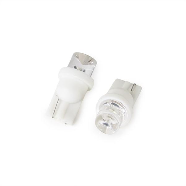 LED lampe Hvitt skinn