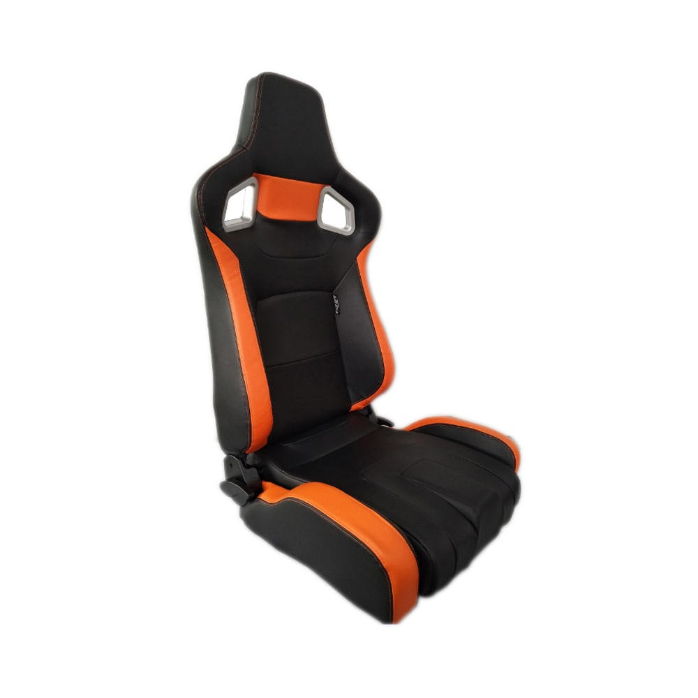 Sportstol Type RS6-II PU Svart/Orange