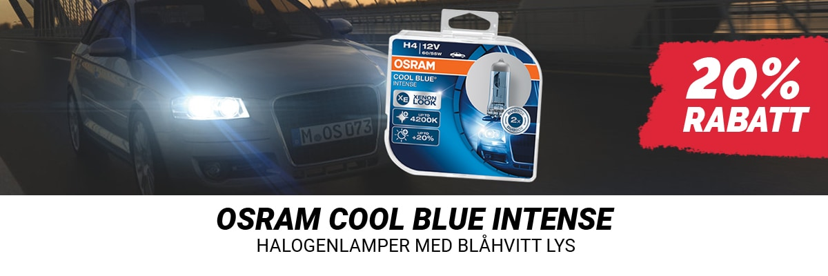 20% rabatt på Osram Cool Blue Intense