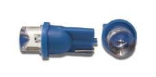 LED lampe blått skinn